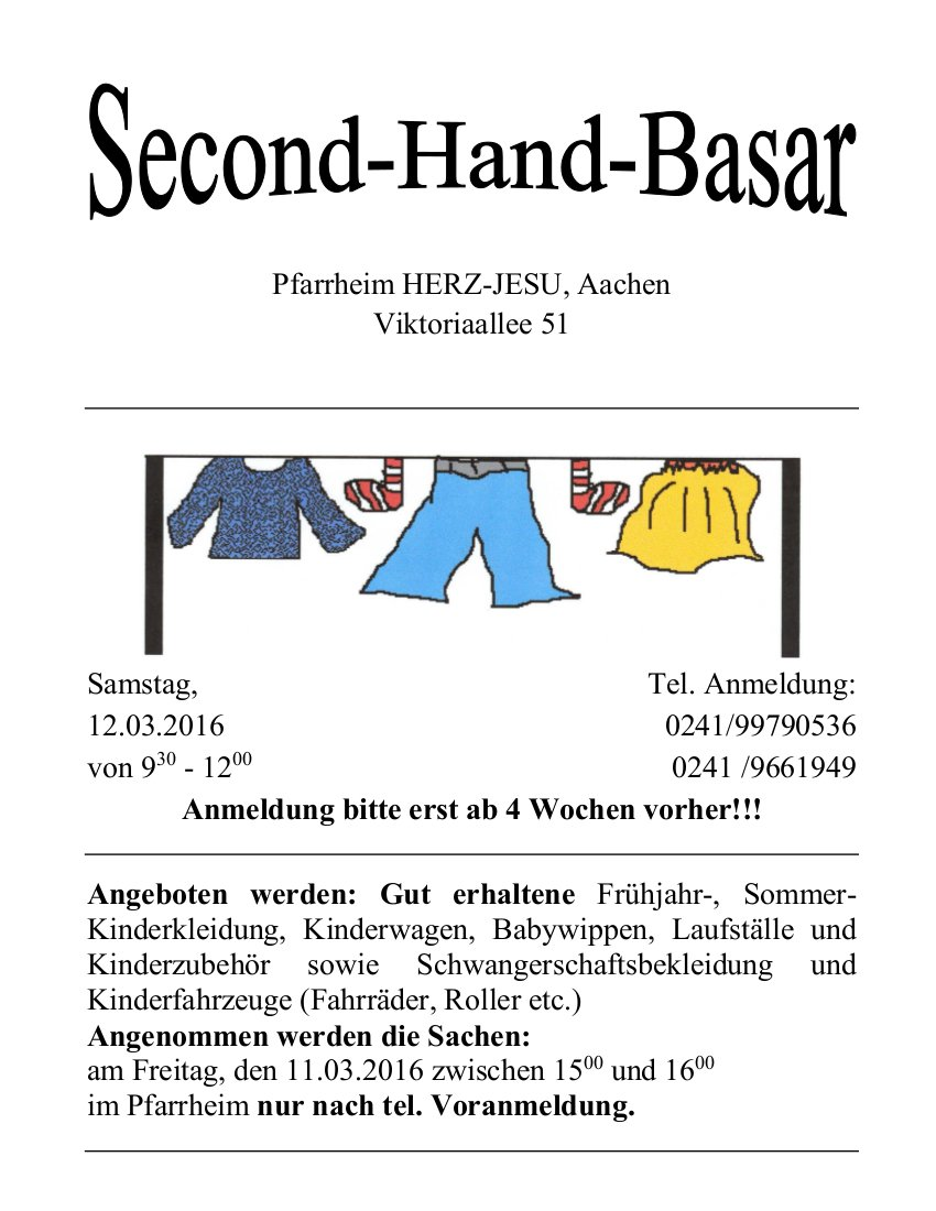 Second - Hand - Basar