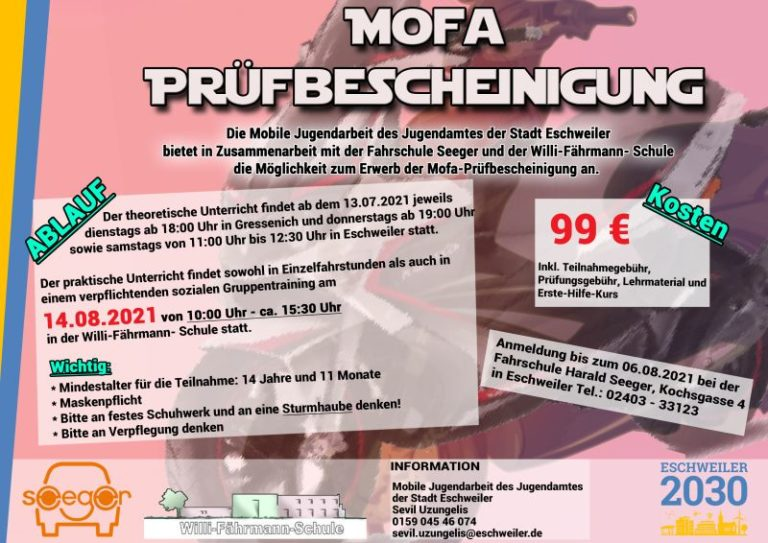 Mofa Prüfung in Eschweiler