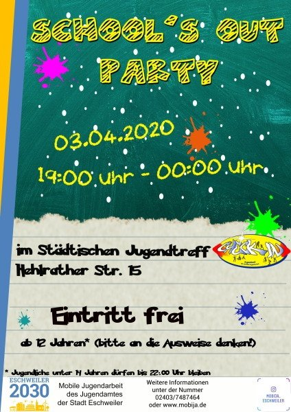 School out party eschweiler