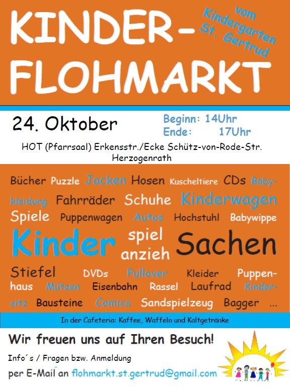 Kindersachenflohmarkt Kita St. Gertrud Herzogenrath