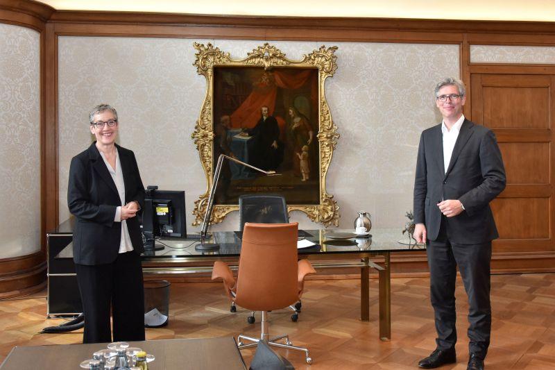 Oberbürgermeisterin Sybille Keupen und Marcel Philipp