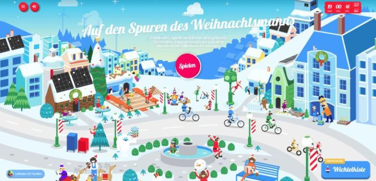 Santa Tracker Adventskalender Google Online-Spiele