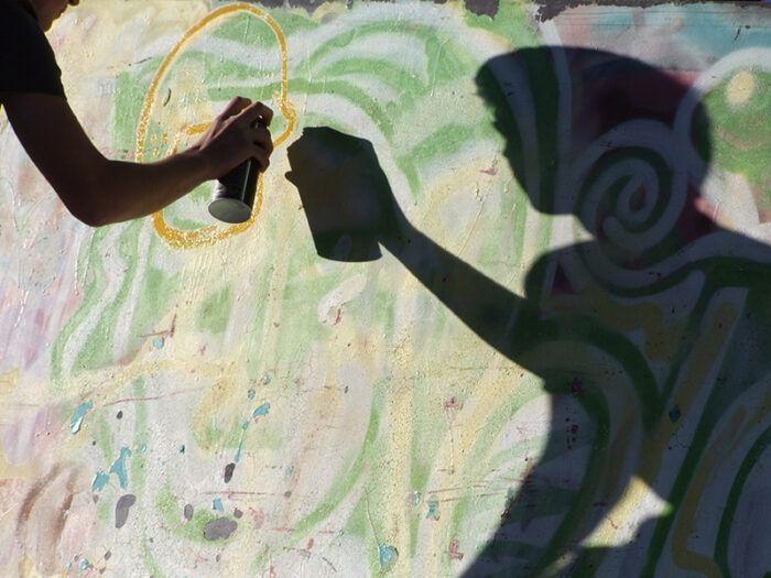 Sebastian Schmidt: Heimat – fragil - GRAFFITI Wochen-Projekt für Jugendliche