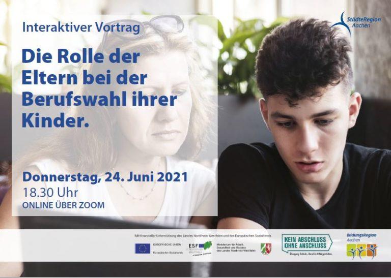 Jugendliche bei der Berufswahl gut unterstützen. Vortrag für Eltern