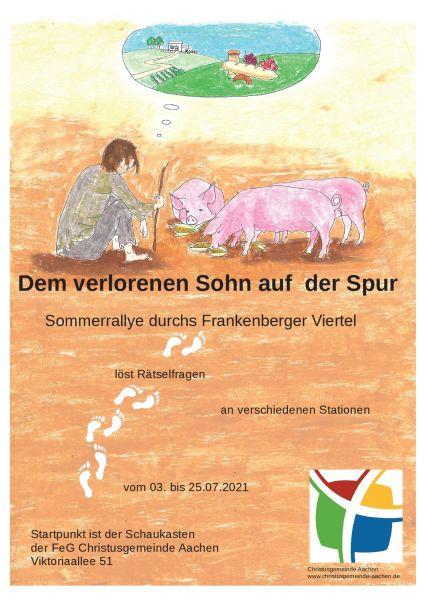 Sommerferienrallye im Frankenberger Viertel von der FeG Christusgemeinde Aachen