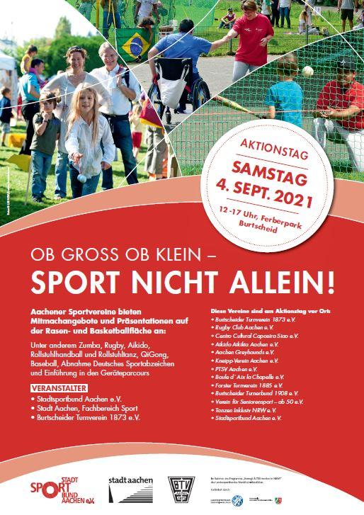 """Aktionstag """"Ob groß oder klein – Sport nicht allein!"""" im Ferberpark"""