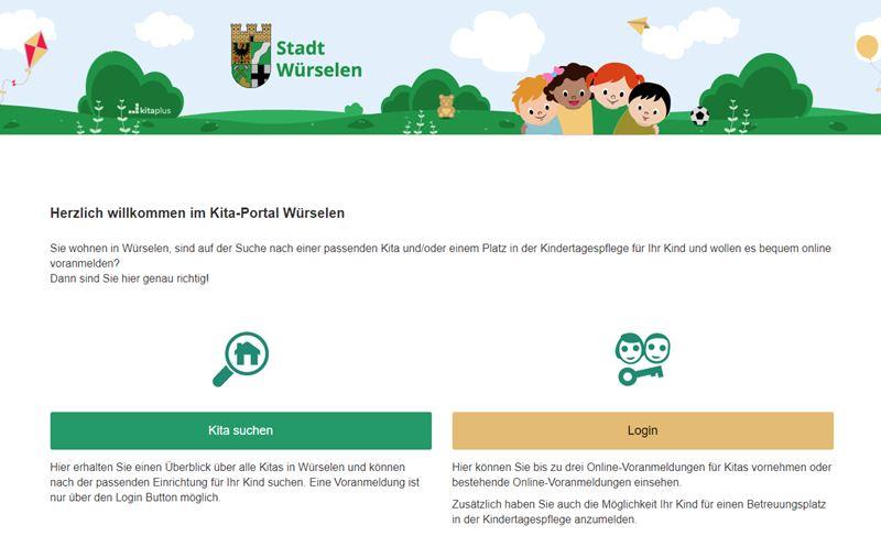 Kita-Portal der Stadt Würselen